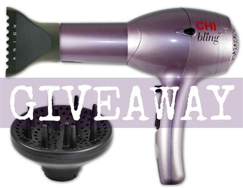 Chi Hair Dryer Diffuser Attachment the freckled fox chi bling giveaway a winner closed