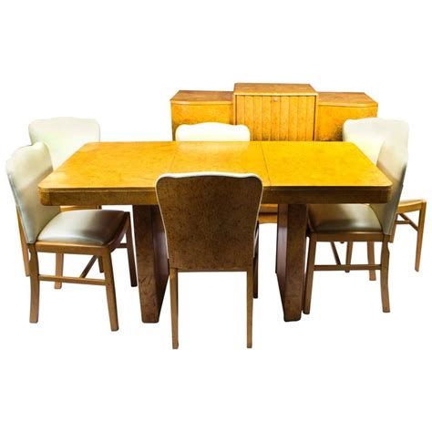 maple dining room sets antique art deco bird s eye maple dining suite set circa