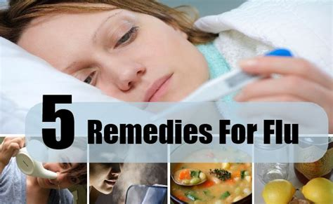 5 home remedies for flu treatments cure for