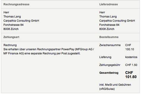 Rechnung An Schweiz Stellen Onlineshopping Gegen Rechnung Reputationsrisiken Bei Abtretung Der Forderung Erfahrungsbericht