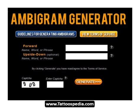 personal tattoo design generator ambigram magazine ambigram news reviews and tattoos