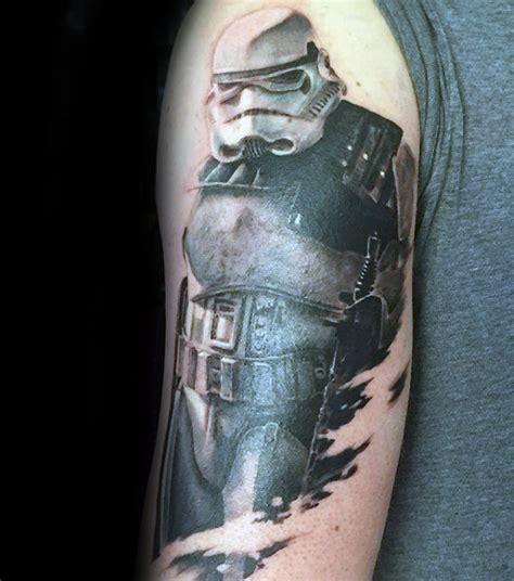 stormtrooper helmet tattoo 100 stormtrooper designs for wars ink ideas