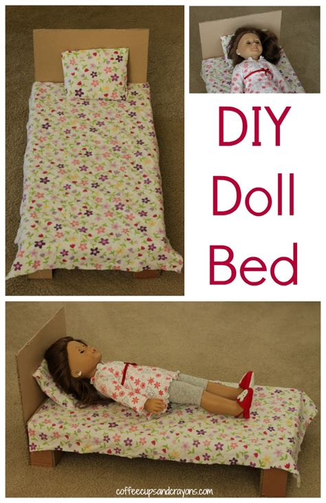 How To Make American Doll Stuff Out Of Paper - diy american doll bed coffee cups and crayons