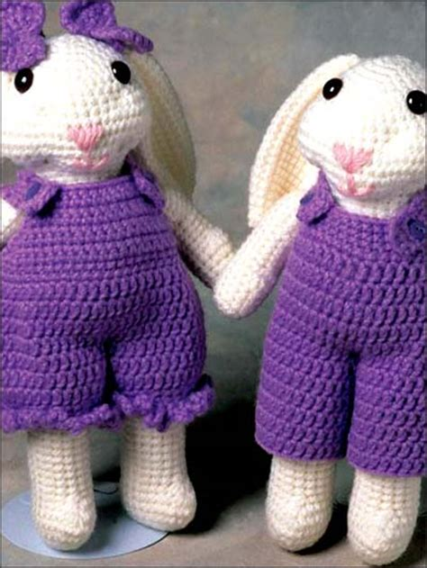 html pattern min max crochet dolls toys stuffed toys max and maxine rabbit