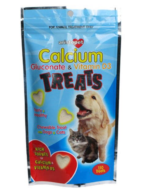 calcium for puppies aristopet calcium gluconate vitamin d3 treats for dogs cats at pet shed