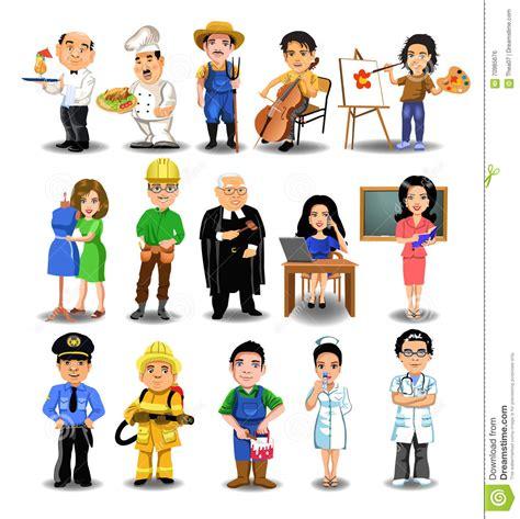 raccolta clipart raccolta di professioni illustrazione vettoriale