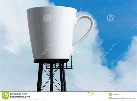 Giant Coffee Mug Reservoir Tower Royalty Free Stock Images   Image: 21585099