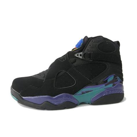 purple jordans shoes air 8 retro aqua high black purple blue womens
