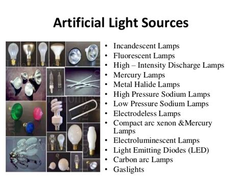 types of light sources types of ls