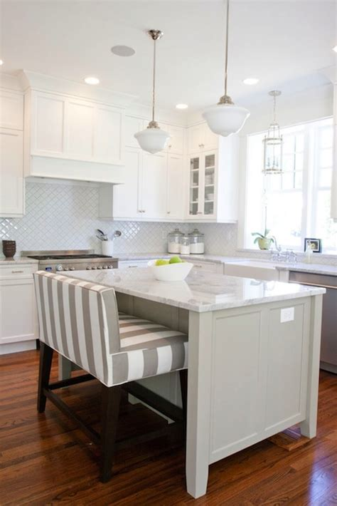 Kitchens With Island Benches by Striped Island Bench Transitional Kitchen Benjamin