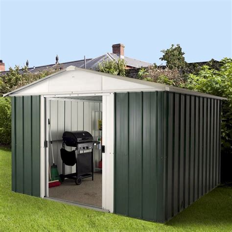 8 X 10 Aluminum Shed by Yardmaster Emerald Deluxe 108geyz Metal Shed 8x10 One Garden