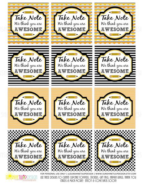 printable labels nz printable teacher appreciation tags take note you are