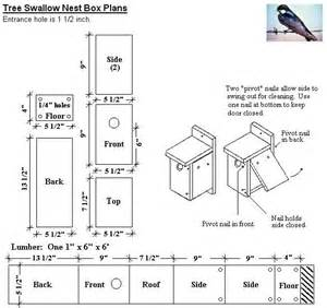 tree swallow bird house plan birdhouses pinterest