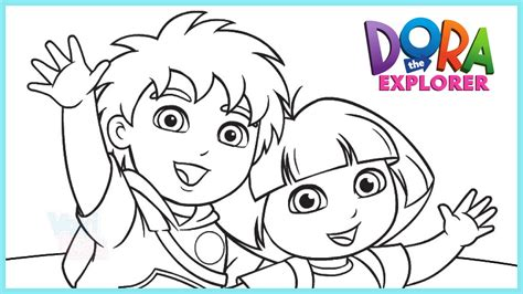 dora and buji coloring page dora coloring pages htm make a photo gallery dora the