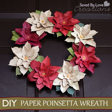 How To Make A Paper Poinsettia - make an aluminum can poinsettia wreath