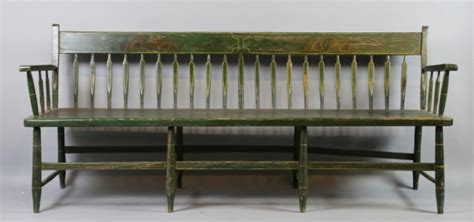 antique parsons bench american southern fine antique parsons long bench