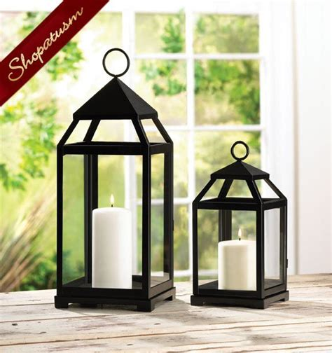 24 black square candle lanterns large centerpieces bulk lot
