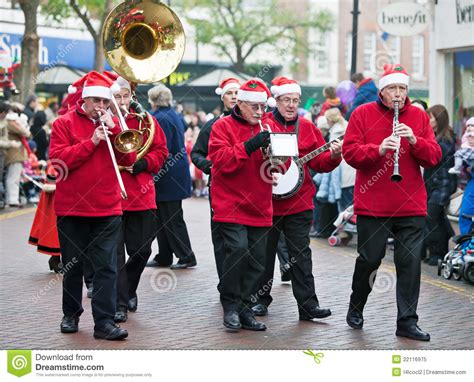 christmas parade brass band editorial image image