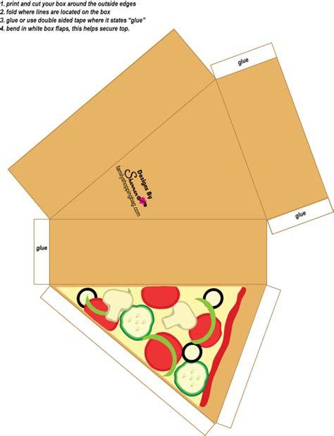 printable paper with picture box cajita rebanada de pizza silhouette cameo inspiration