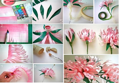 Paper Crafts Gifts - diy paper flowers goodiy
