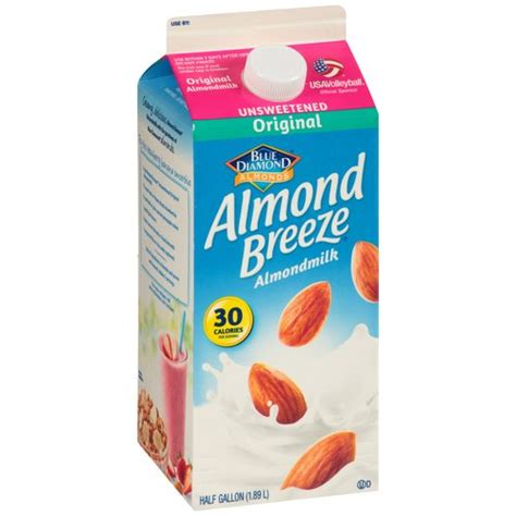 Blue Diamond Almond Breeze Original Unsweetened Almondmilk, 0.5 gal   Walmart.com