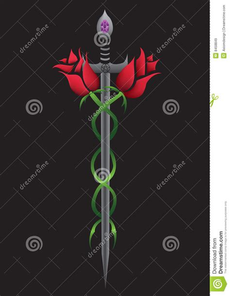 rose sword royalty free stock images image 8458849