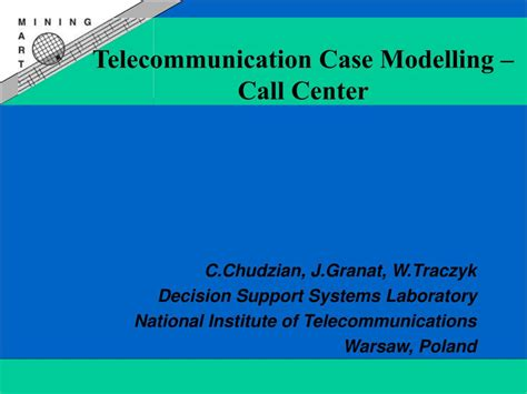 Ppt Telecommunication Case Modelling Call Center Telecommunication Presentation