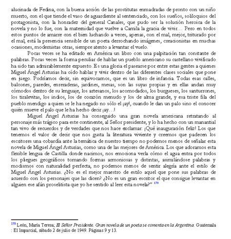 el senor presidente letras quot el se 241 or presidente quot en opini 243 n de contempor 225 neos de miguel 193 ngel asturias rosales p 225 gina 5