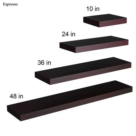 Floating Shelves Black Manhattan Black Wooden Floating Wall Shelves