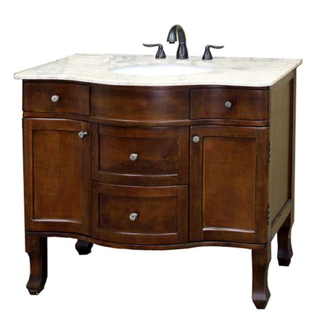 Marble Bathroom Vanities Shop Bellaterra Home Medium Walnut Undermount Single Sink Bathroom Vanity With Marble
