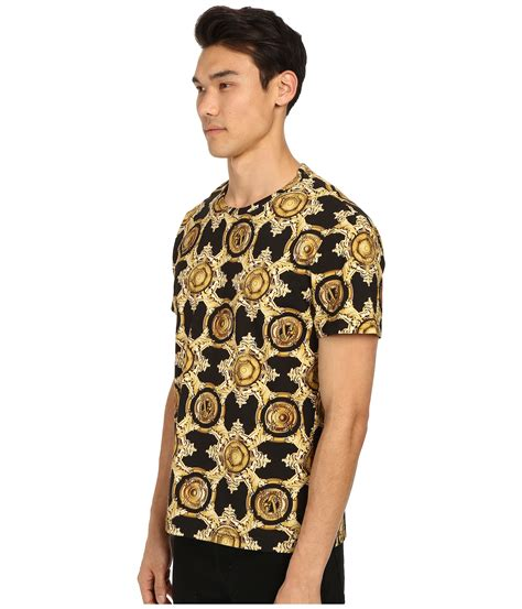 Sleeve Printed Shirt the trueself versace printed sleeve polo t shirt white
