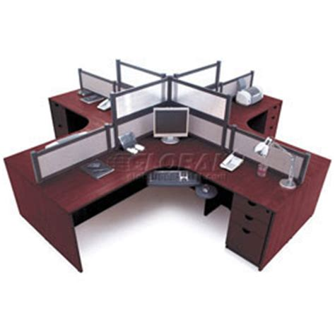Desks Office Collections Storlie 4 Person L Desk 4 Person Desk
