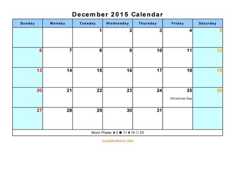 printable monthly calendar for december 2015 printable december 2015 calendar template
