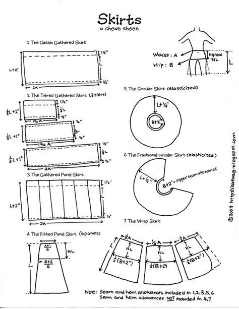 design pattern guide skirts diy guide sewing projects pinterest