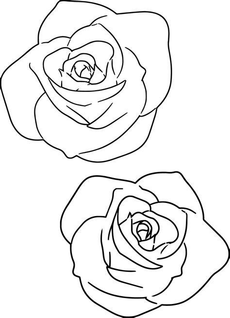 large rose coloring page large pink rose coloring page wecoloringpage