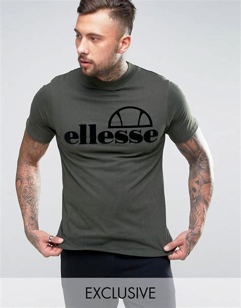 Hoodie Tamiya Flock Exclusive Ellesse High Neck T Shirt With Flock Logo In Green For