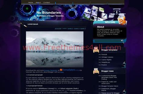 templates blogger technology free blogger technology template theme download