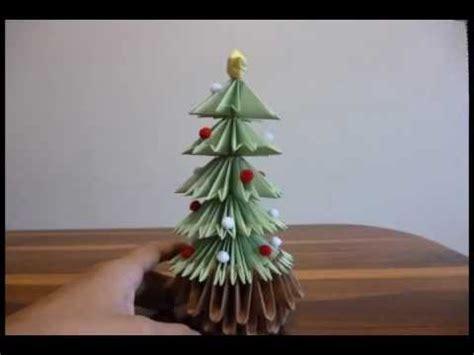 arbol de navidad origami 3d youtube