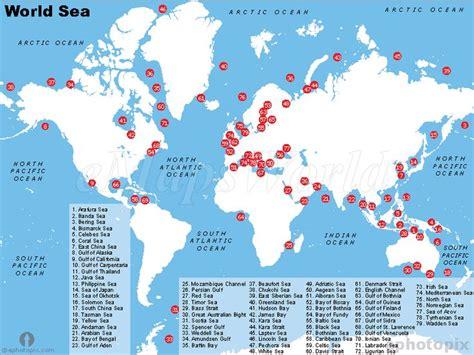 seas   world map    sea world sea ocean