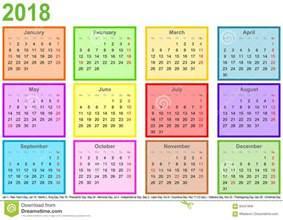 Kalender 2018 Excel Nederlands Kalender 2018 Elke Maand De Verschillende Gekleurde