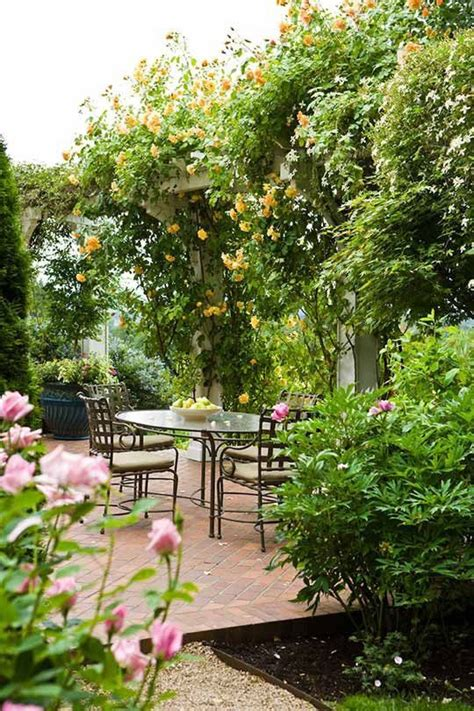 french country garden secluded patio beautiful
