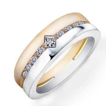 Wedding Ring Z 3 by Izyaschnye Wedding Rings 3 Tone Wedding Rings