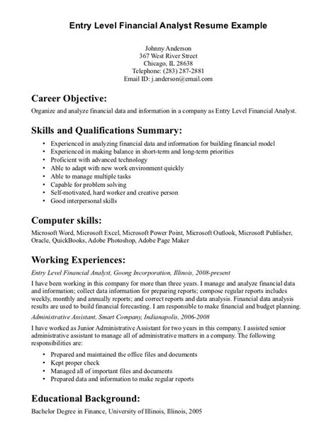 imposing sles of resume financial analyst resume sle objective canada doc fresh graduate imposing templates pdf stock