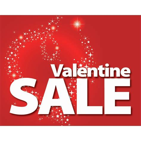 valentines sale s day sale signs 7 x 5 1 2 l x h cards