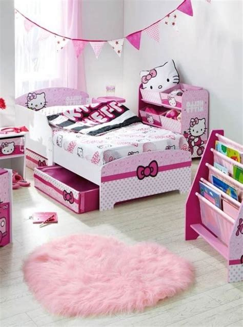 pictures of hello kitty bedrooms hello kitty girl bedroom decorating ideas on lovekidszone