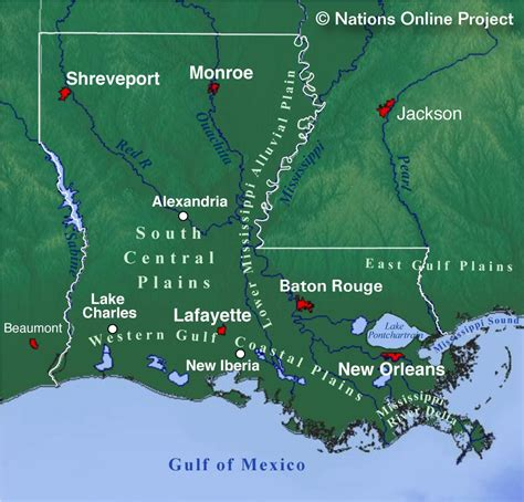 map of louisiana usa reference maps of louisiana usa nations project