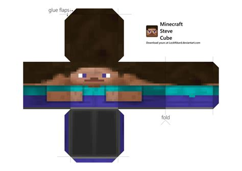 Buy Minecraft Papercraft - steve cube papercraft by lockrikard on deviantart