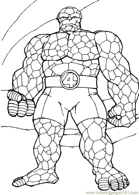 coloring pages fantastic four coloring page 15 cartoons