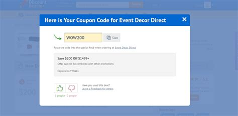 Decorating Direct Discount Code by Event Decor Direct Promo Code Iron