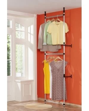 telescopic hanging clothes rail system d i y crafts